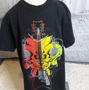 3/$15  GWP Sport black rock n roll guitar tee sz M